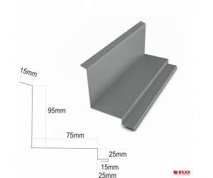 6: Bordura la perete lateral
